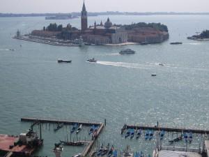 Вид на остров Св. Джорджио с колокольни Св. Марка