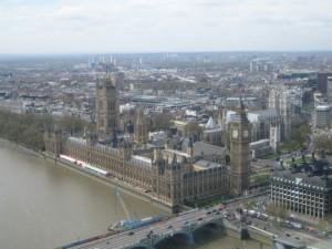 Вид на Здания Парламента и Биг Бен