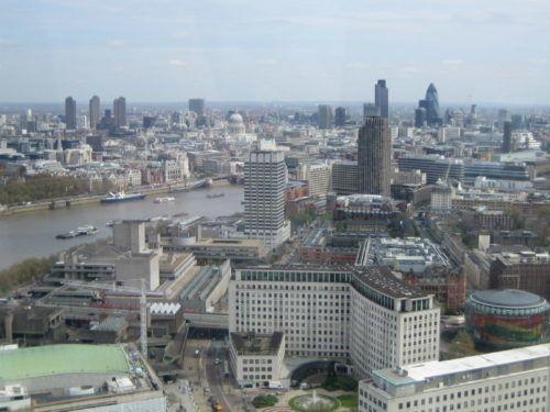 Панорама лондона из лондонского глаза