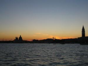 Вид на Венецию из венецианской лагуны